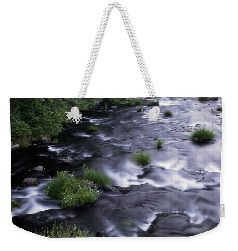 River Weekender Tote Bag featuring the photograph Black Waters by Peter Piatt