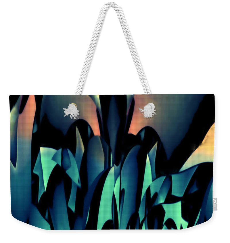Blackbird Weekender Tote Bag featuring the mixed media Blackbird by Barry King