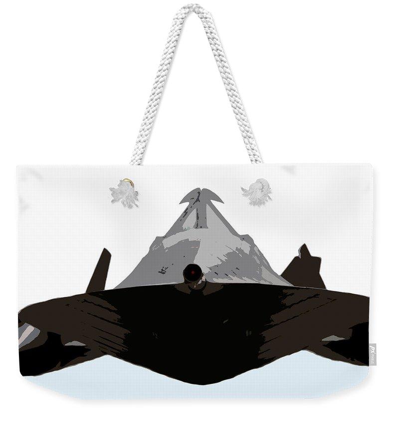 S 71 Blackbird Weekender Tote Bag featuring the painting Blackbird by David Lee Thompson