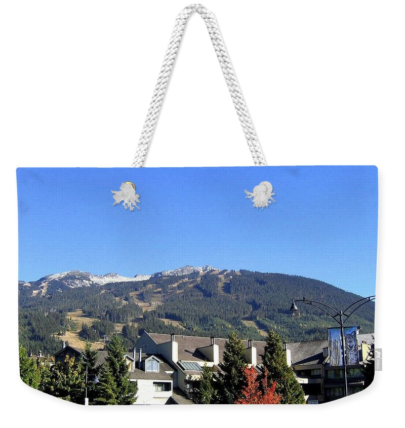 2010 Olympics Weekender Tote Bag featuring the photograph Blackcomb Mountain by Will Borden