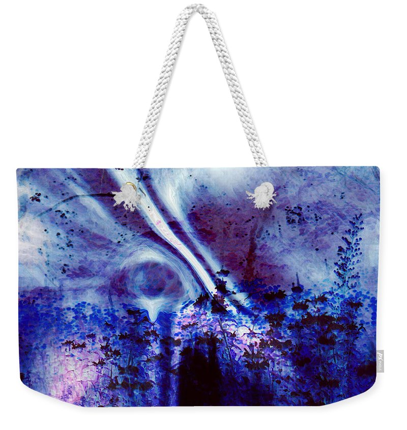 Abstracts Weekender Tote Bag featuring the digital art Blackest Eyes by Linda Sannuti
