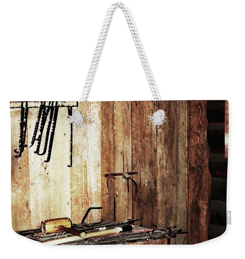 Blacksmith Shop Photographs Weekender Tote Bag featuring the photograph Blacksmith Shop by Kim Henderson