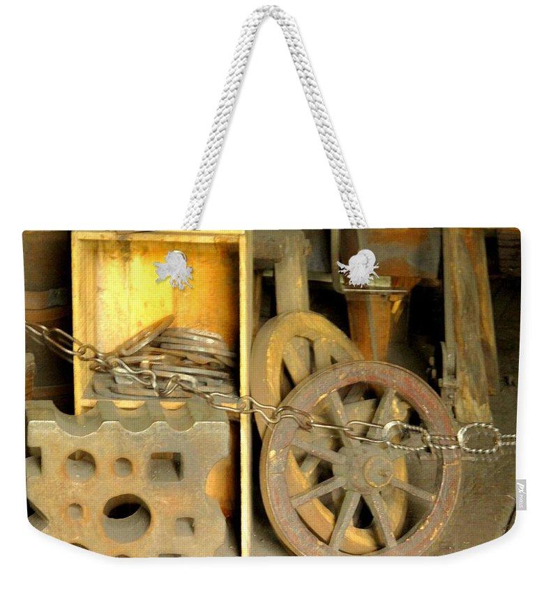 Blacsmiith Weekender Tote Bag featuring the photograph Blacksmiths Shop by Ian MacDonald