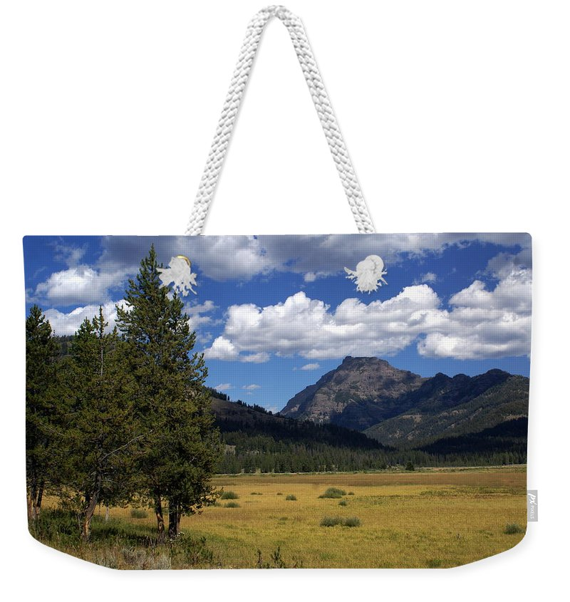 Yellowstone National Park Weekender Tote Bag featuring the photograph Blacktail Plateau by Marty Koch