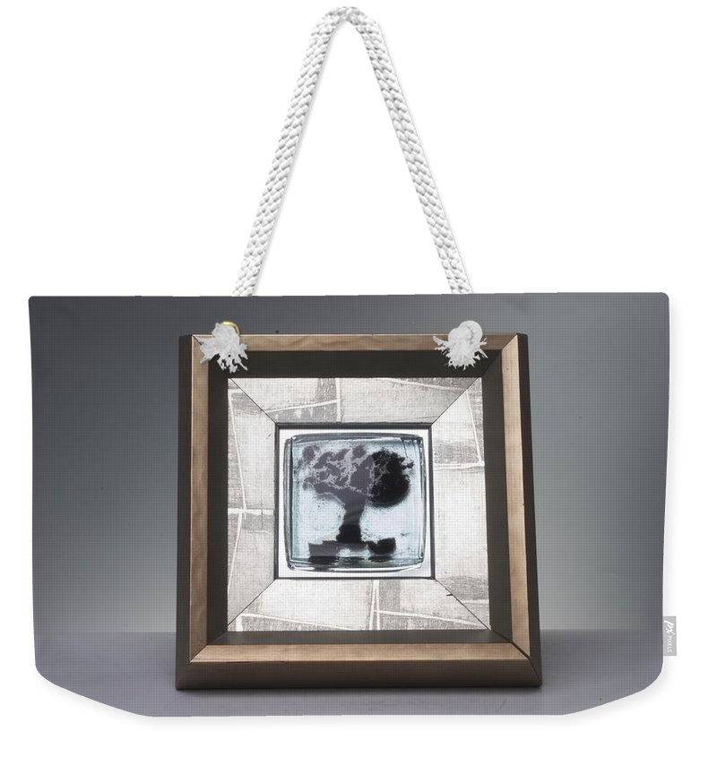 Framed Weekender Tote Bag featuring the photograph Blacktree Framed by Mykel Davis