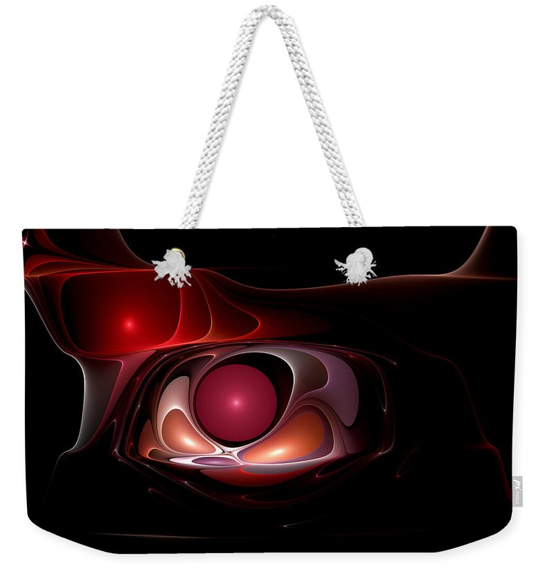 Abstract Weekender Tote Bag featuring the digital art Blade Runner by Casey Kotas