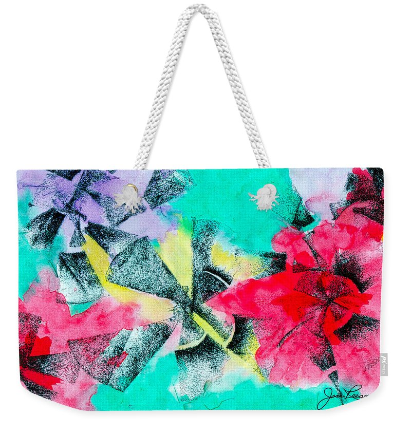 Abstract Painting Weekender Tote Bag featuring the painting Blade Runner by Joan Reese
