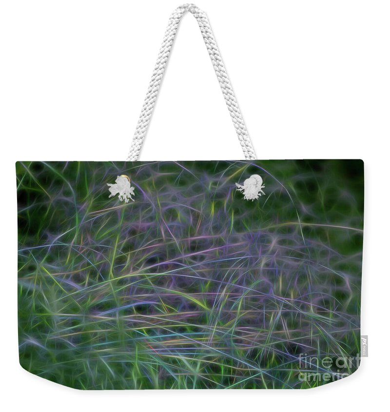 Neon Weekender Tote Bag featuring the photograph Blades Of Color by Carolyn Truchon