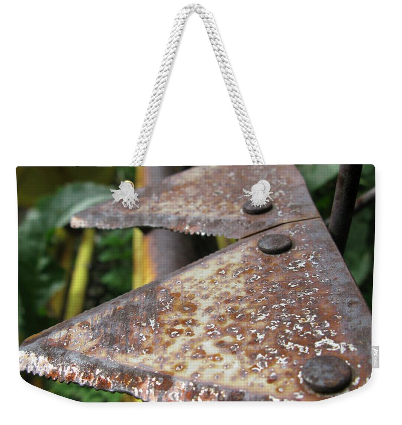 Farm Weekender Tote Bag featuring the photograph Blades Of Production by Jeffery Ball