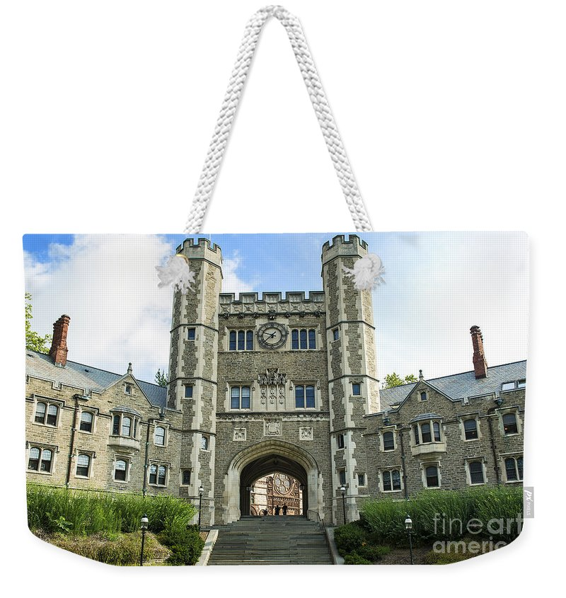 Blair Hall Weekender Tote Bag featuring the photograph Blair Hall Princeton by John Greim