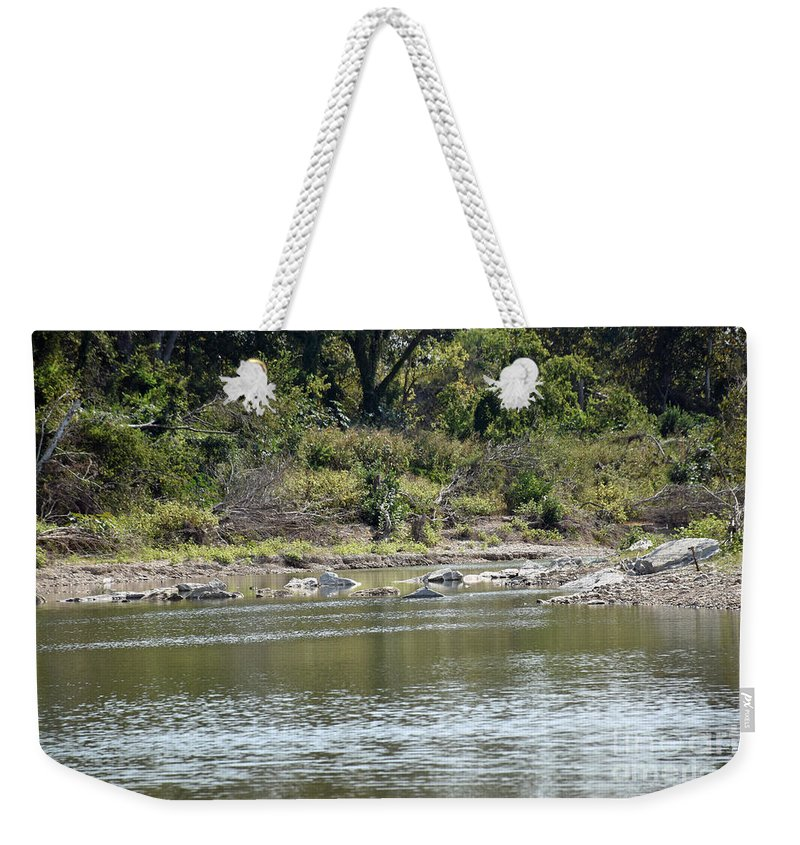 Blanco River Weekender Tote Bag featuring the photograph Blanco River - Texas by Ray Shrewsberry