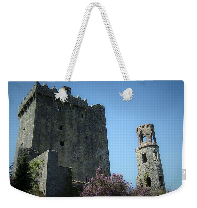 Irish Weekender Tote Bag featuring the photograph Blarney Castle And Tower County Cork Ireland by Teresa Mucha
