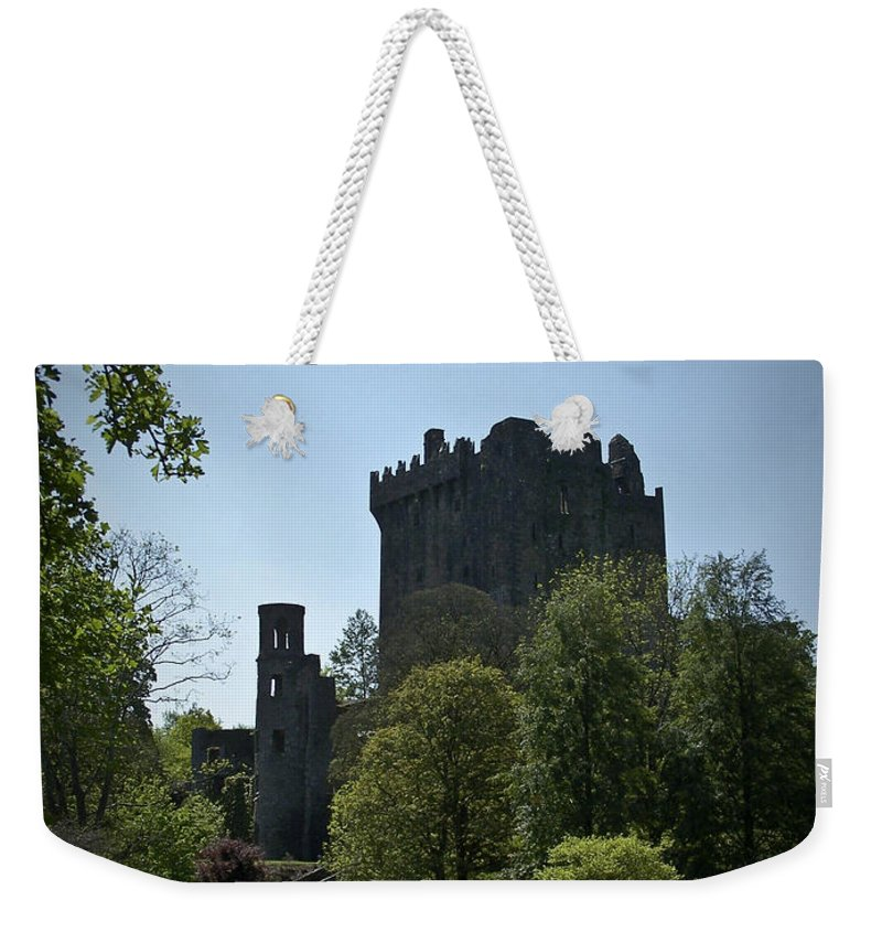 Irish Weekender Tote Bag featuring the photograph Blarney Castle Ireland by Teresa Mucha