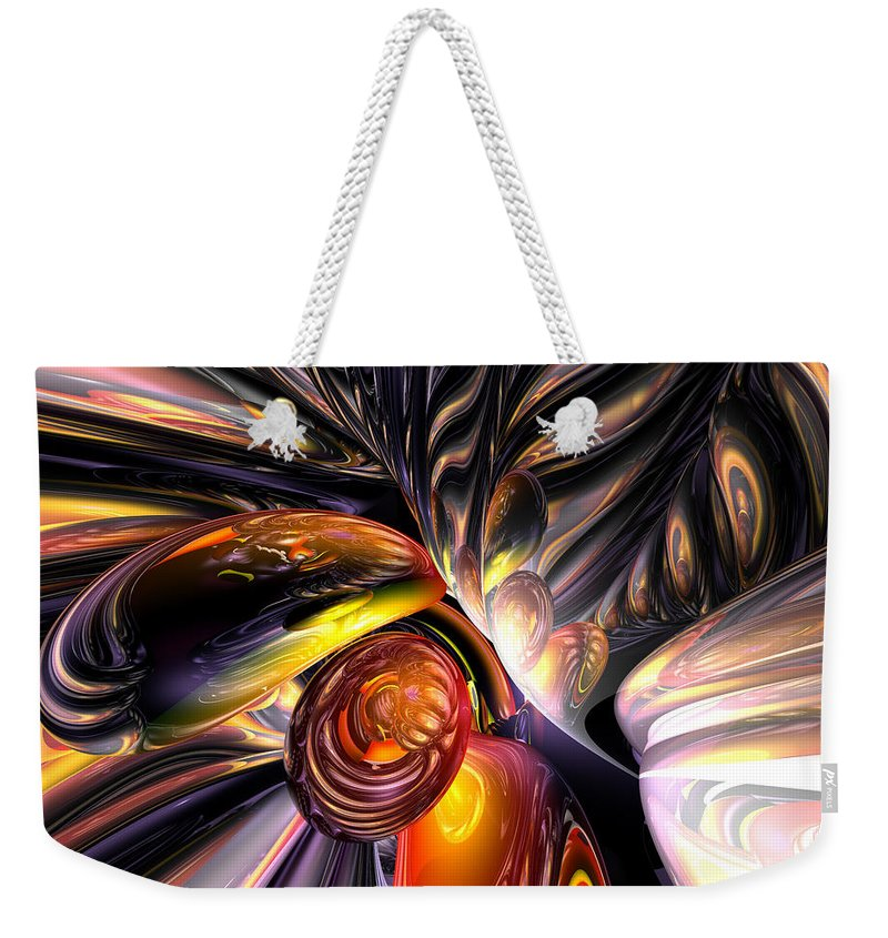3d Weekender Tote Bag featuring the digital art Blaze Abstract by Alexander Butler