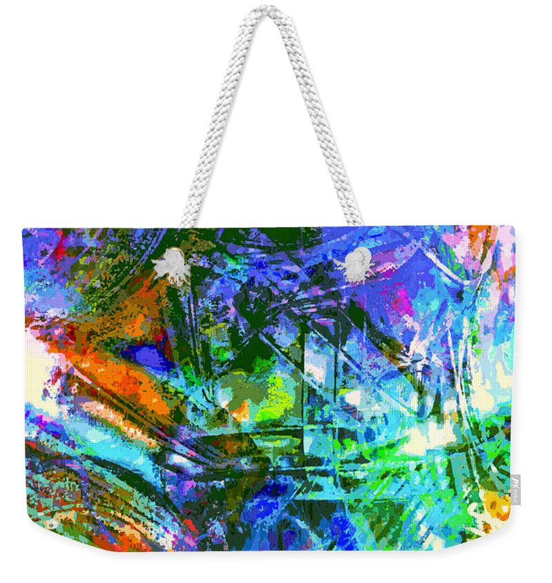 Abstract Weekender Tote Bag featuring the photograph Bleached Vibrance by Tom Gowanlock