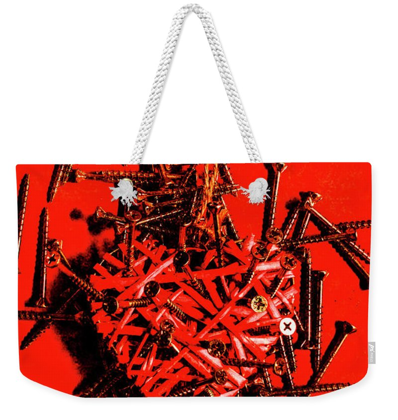 Loss Weekender Tote Bag featuring the photograph Bleeding Hearts by Jorgo Photography - Wall Art Gallery
