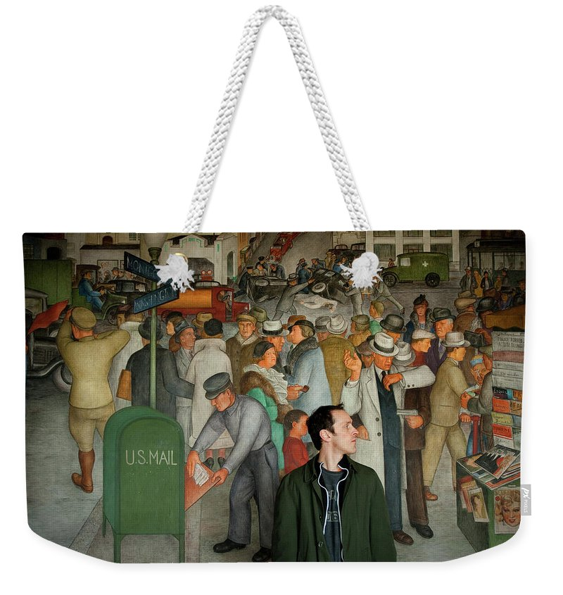Chris Weekender Tote Bag featuring the photograph Blending In by Greg Fortier