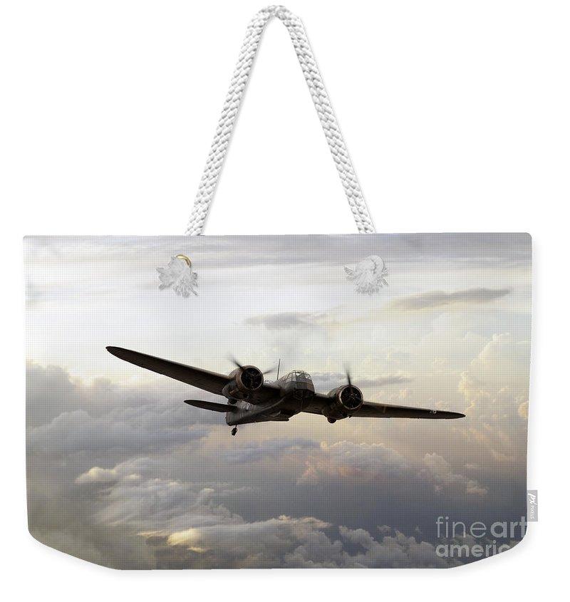 Bristol Weekender Tote Bag featuring the digital art Blenheim Flight by J Biggadike