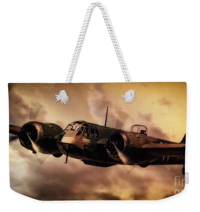Blenheim Weekender Tote Bag featuring the digital art Blenheim Inbound by J Biggadike