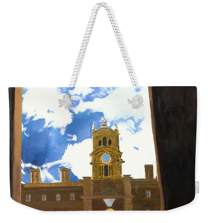 Churchill Weekender Tote Bag featuring the painting Blenheim Palace England by Avi Lehrer