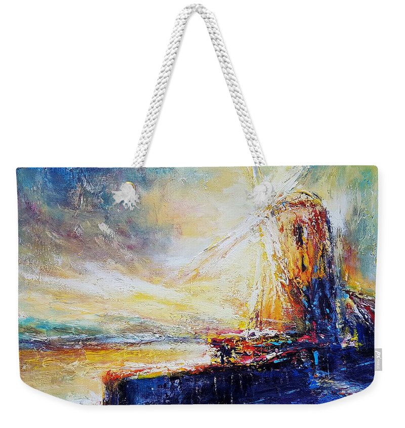 Buildings Weekender Tote Bag featuring the painting Blennerville Wind Mill by Roman Burgan