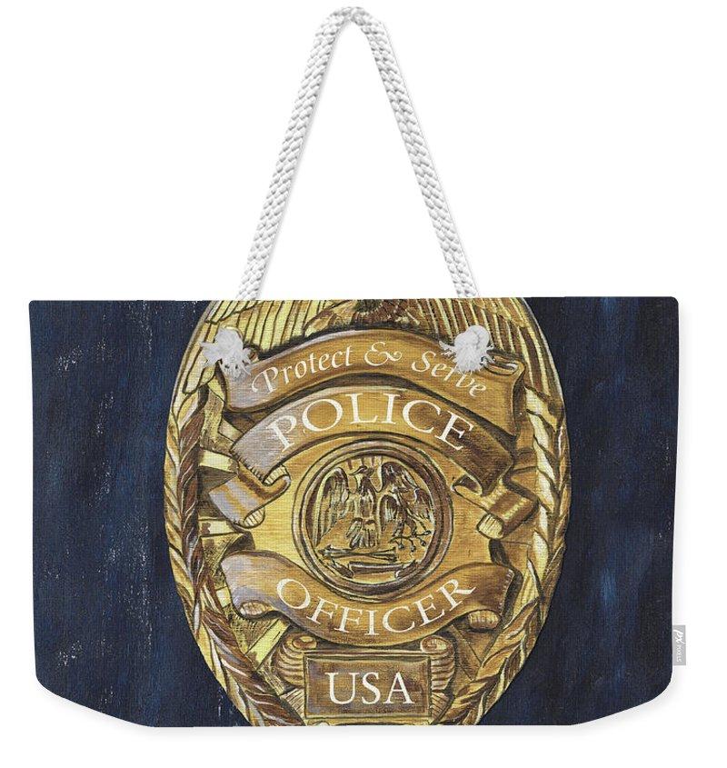 Police Weekender Tote Bags