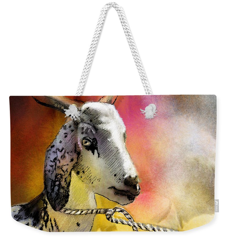Eid Ul Adha Weekender Tote Bag featuring the painting Blessings Be Upon You by Miki De Goodaboom