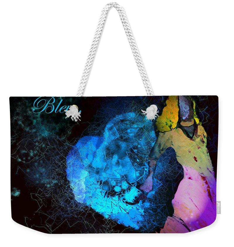 Love Weekender Tote Bag featuring the painting Bleu Bleu L Amour Est Bleu by Miki De Goodaboom