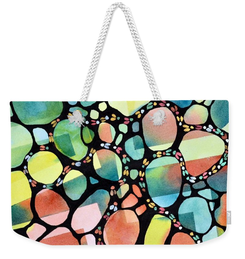 Inspiration Weekender Tote Bag featuring the painting Blind Faith by Pamela Lee