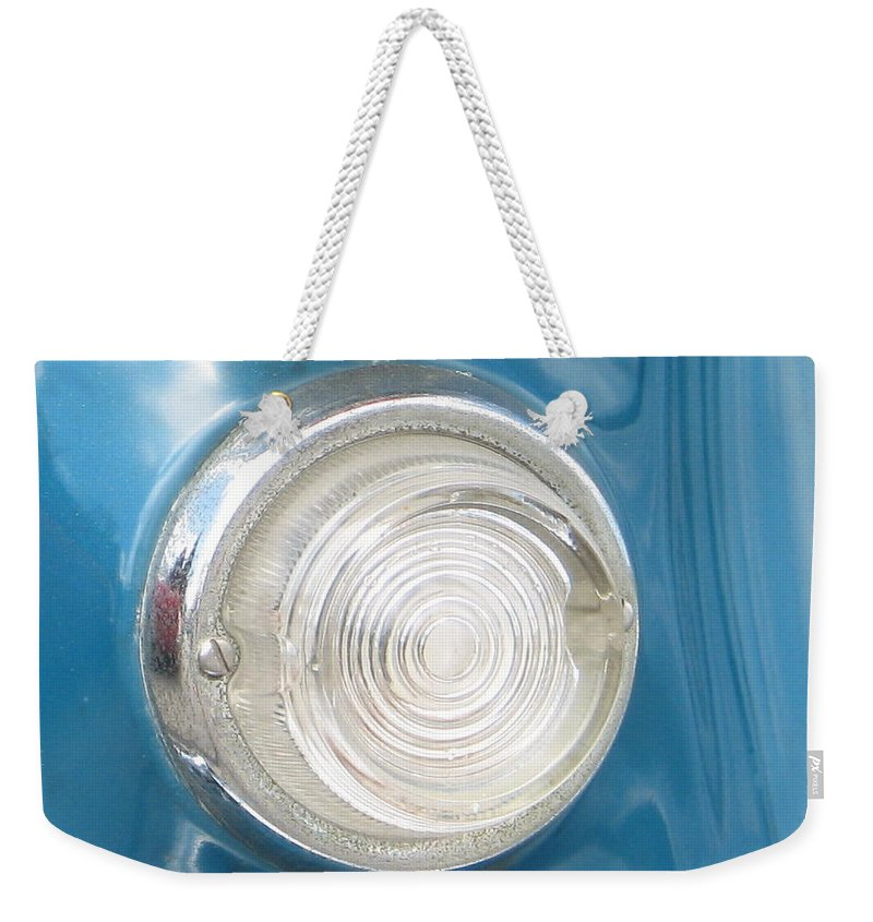 Pontiac Weekender Tote Bag featuring the photograph Blink by Kelly Mezzapelle