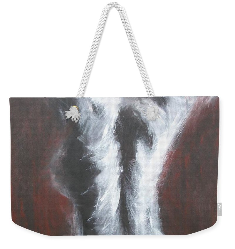 Original Weekender Tote Bag featuring the painting Bliss by Carmen Tyrrell