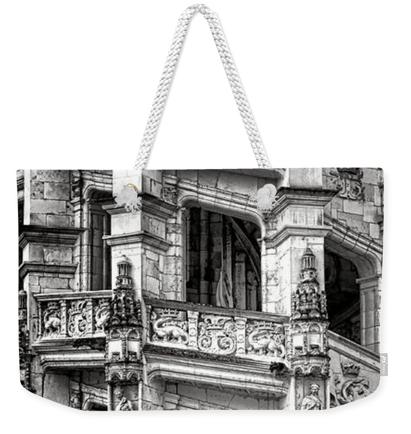 Blois Weekender Tote Bag featuring the photograph Blois Castle Staircase by Olivier Le Queinec