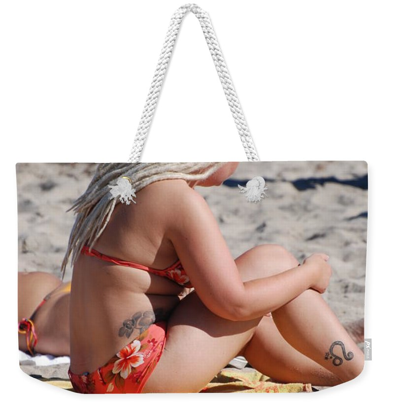 Girls Weekender Tote Bag featuring the photograph Blondie Braids by Rob Hans