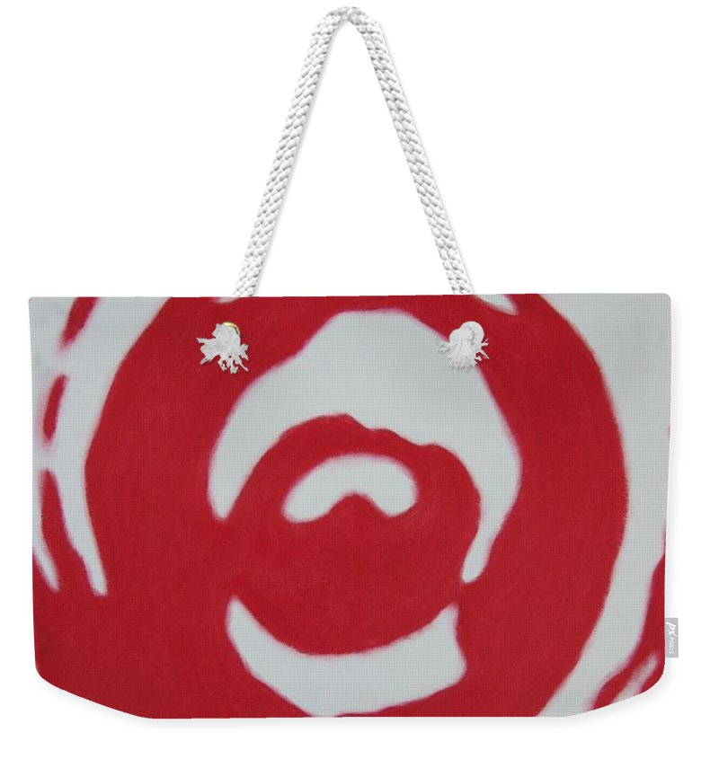 Abstract Weekender Tote Bag featuring the painting Blood And Tears by Lynet McDonald