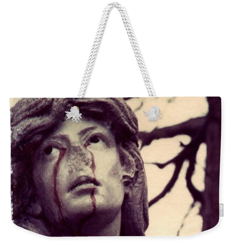 Polaroid Weekender Tote Bag featuring the photograph Blood Is The New Black by Jane Linders