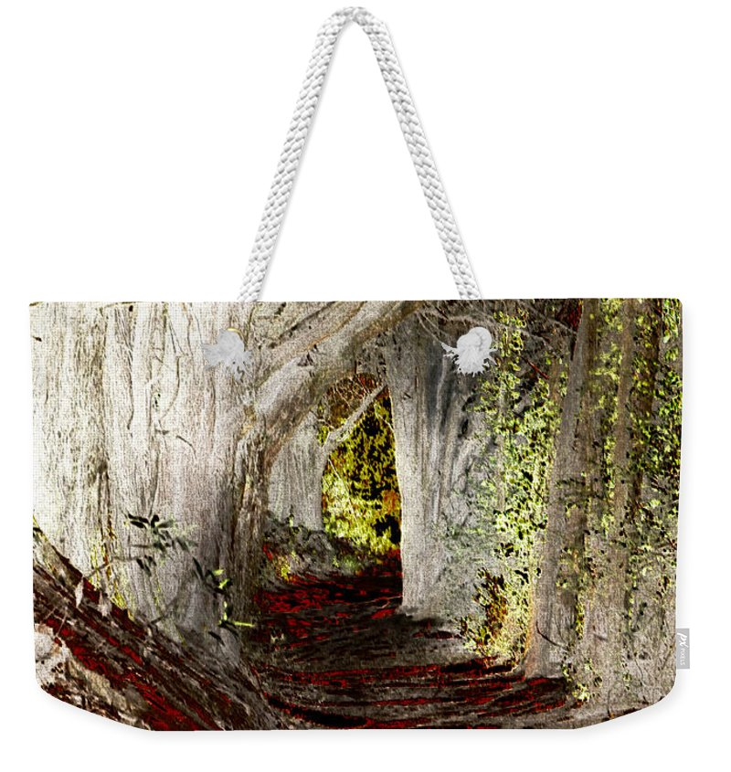 Tree Weekender Tote Bag featuring the photograph Blood Redwoods by Karen W Meyer