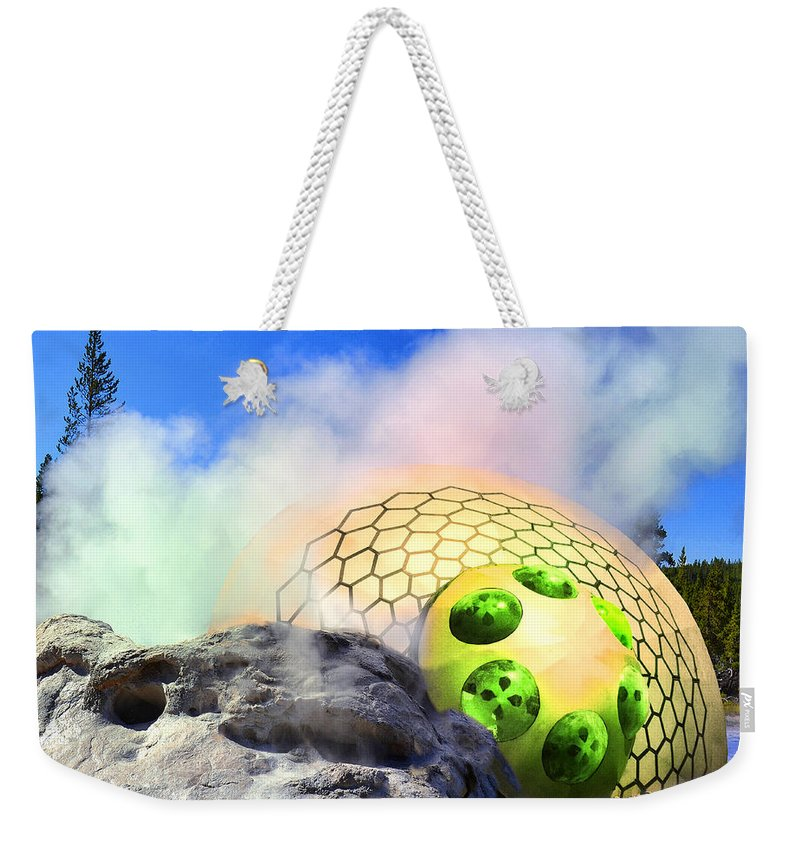 Flying Saucer Weekender Tote Bag featuring the photograph Bloody Tourists 2 by Dominic Piperata