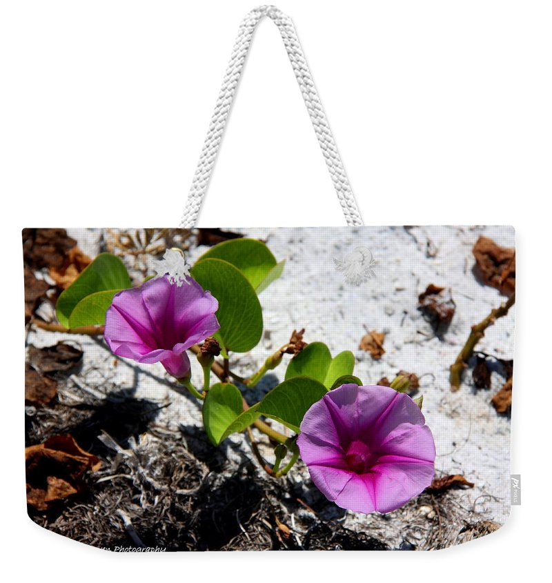 Cross Vine Weekender Tote Bag featuring the photograph Bloomin Cross Vine by Barbara Bowen