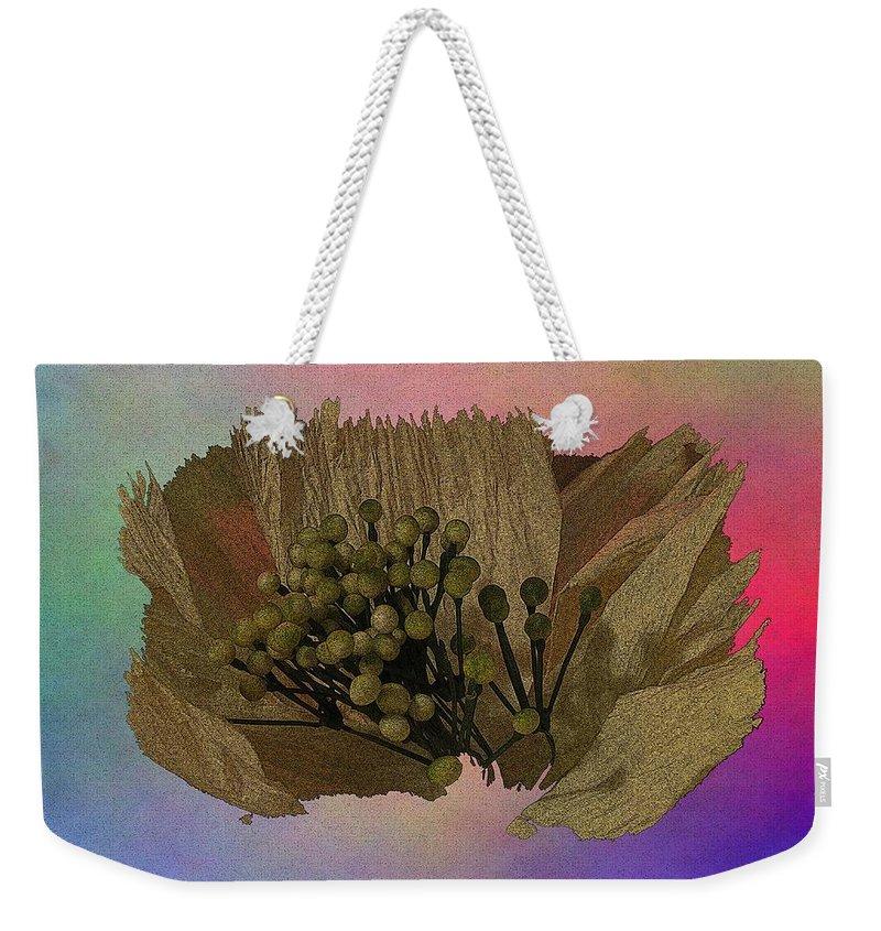 Abstract Weekender Tote Bag featuring the digital art Blooming 2 by Tim Allen