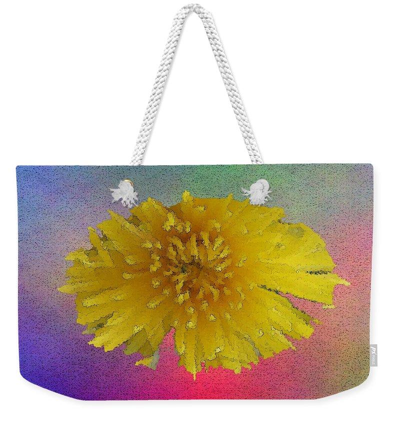 Bloom Weekender Tote Bag featuring the digital art Blooming 3 by Tim Allen