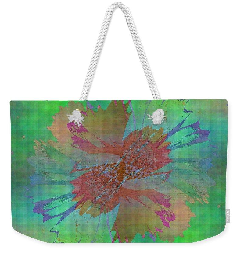 Bloom Weekender Tote Bag featuring the digital art Blooms In The Mist by Tim Allen