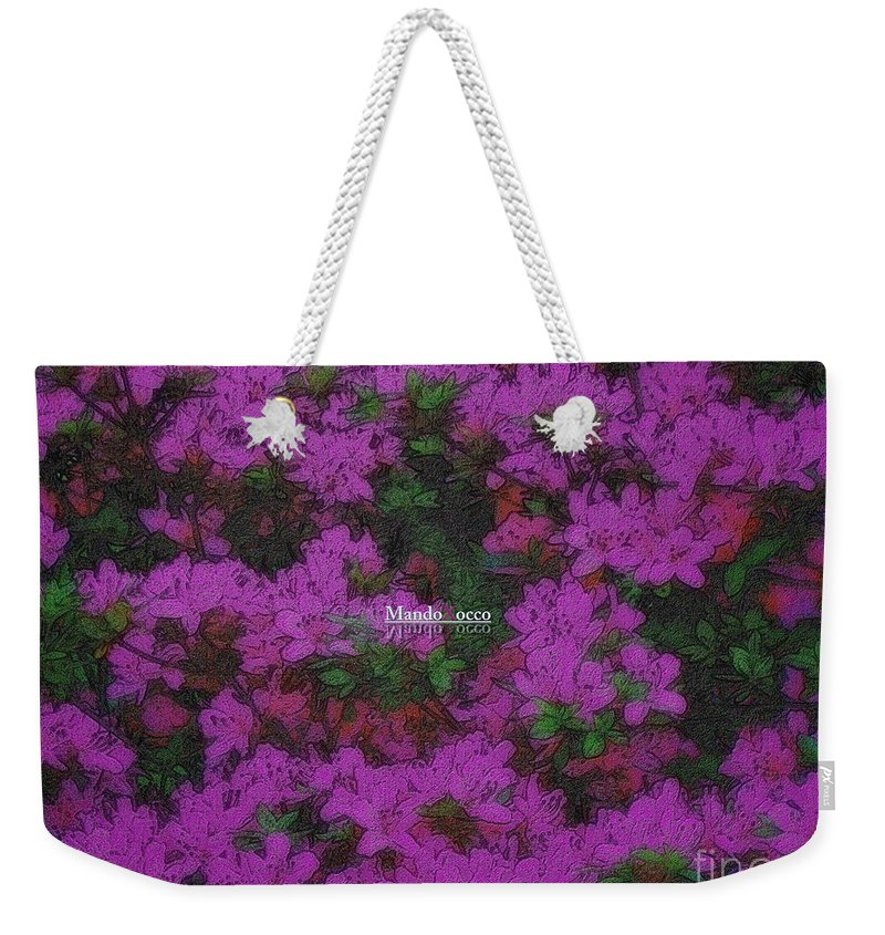 Design Weekender Tote Bag featuring the mixed media Blooms by Mando Xocco