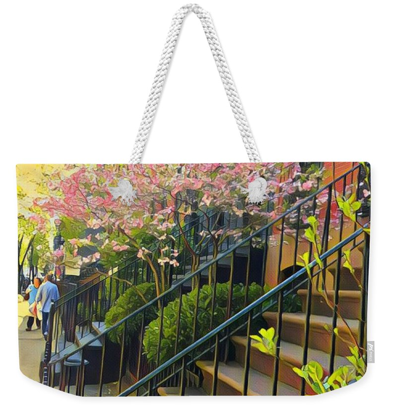 Nyc Weekender Tote Bag featuring the photograph Blooms Of New York by Cherylene Henderson