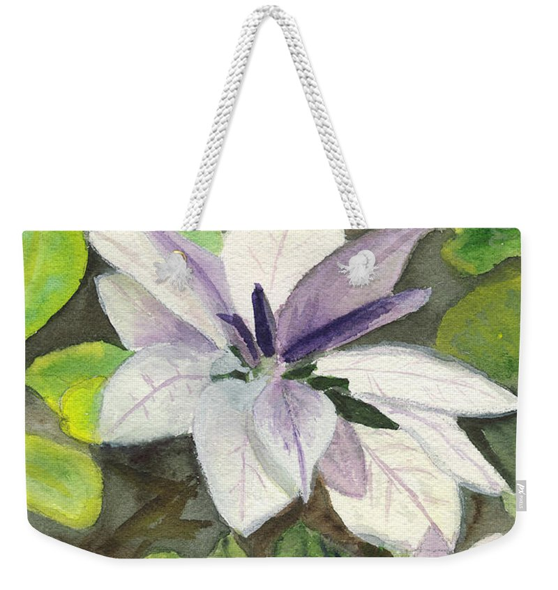 Blossom Weekender Tote Bag featuring the painting Blossom At Sundy House by Donna Walsh