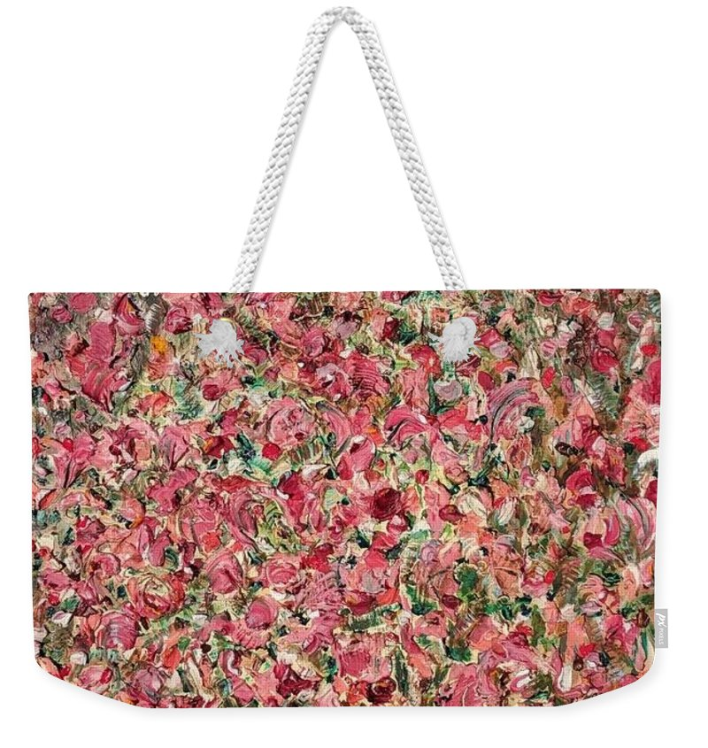 Contemporary Weekender Tote Bag featuring the painting Blossom by Didi Mx