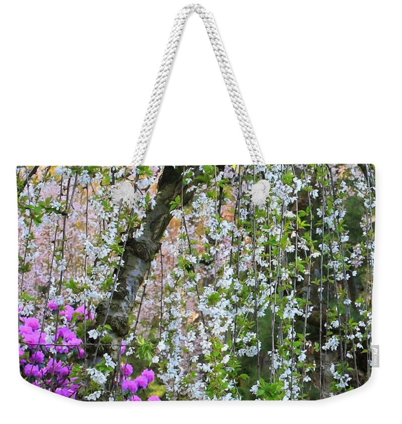 Blossoms Galore Weekender Tote Bag featuring the photograph Blossoms Galore by Carol Groenen