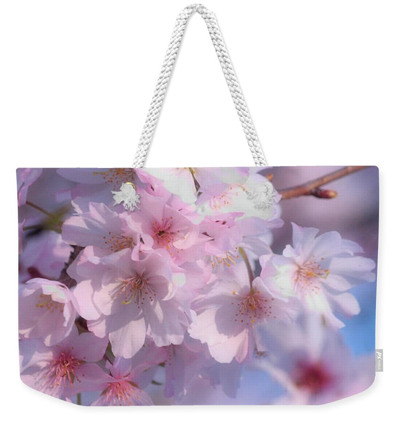 Cherry Blossoms Weekender Tote Bag featuring the photograph Blossoms by Luv Photography