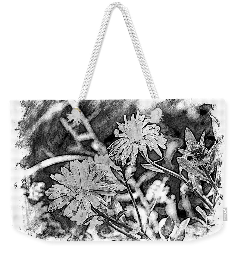 Zinnia Weekender Tote Bag featuring the photograph Zinnia Blossoms by Margie Wildblood