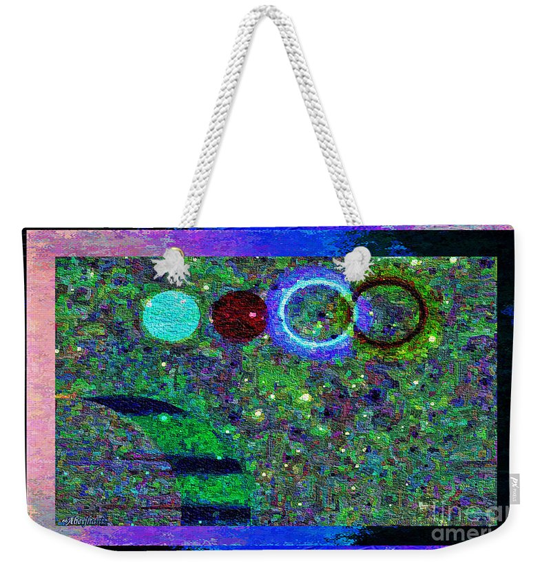 Nonviolence Weekender Tote Bag featuring the mixed media Blossoms Of Nonviolent Conflict Resolution by Aberjhani