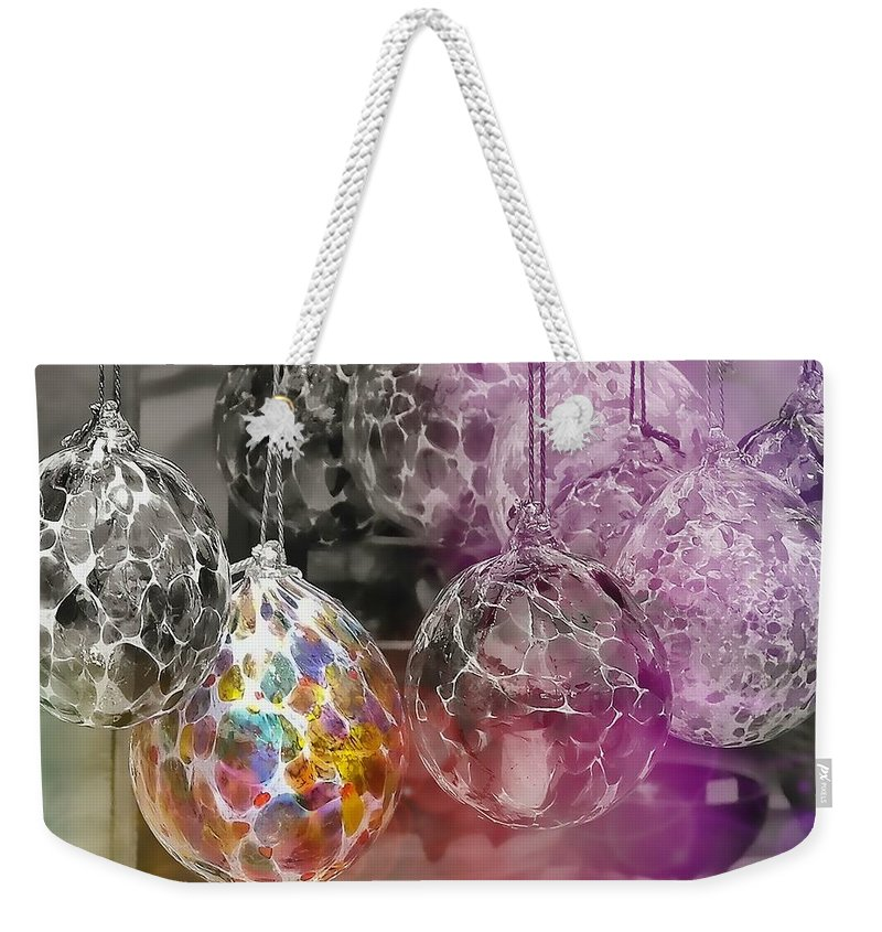 Ornament Weekender Tote Bag featuring the photograph Blown Glass Ornaments by JAMART Photography